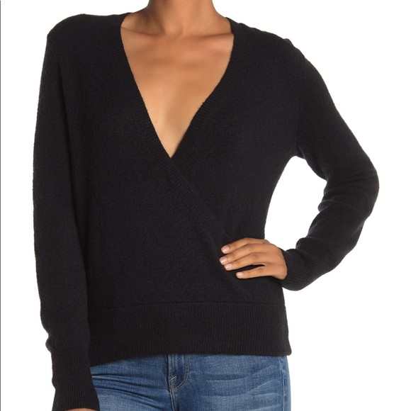 Madewell Sweaters - Madewell Faux Wrap Pullover Sweater